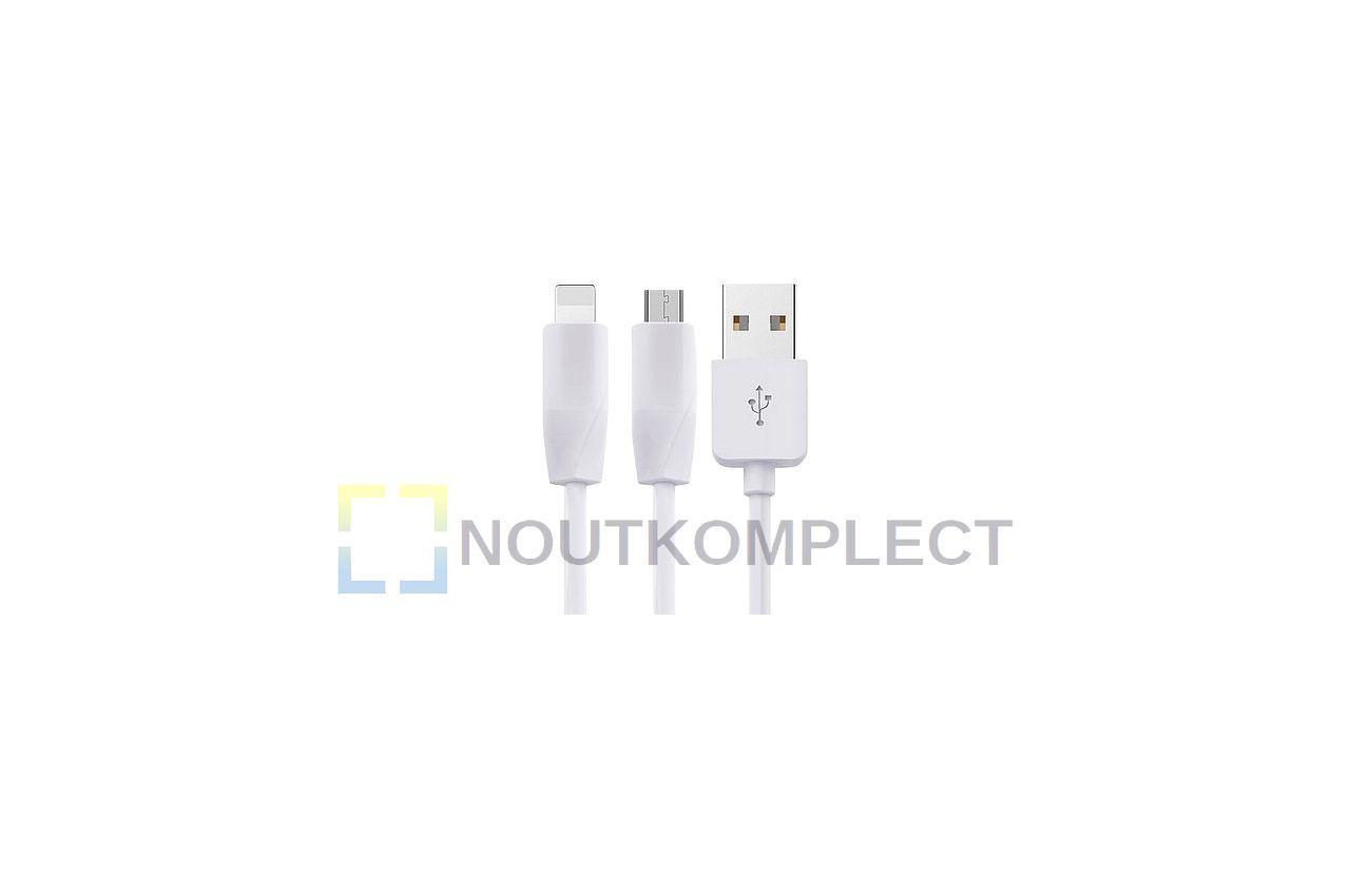 Кабель Lightning+Micro-USB Hoco - X1 1 м White