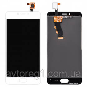 Дисплей Meizu M3S with touchscreen white orig (TXD500UYPA-251-1 V.01 home 15mm)