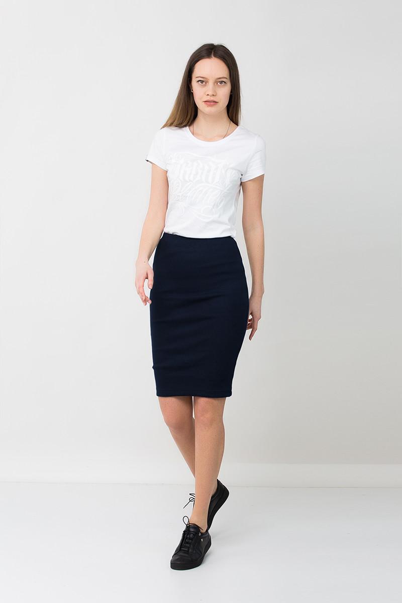 Модная юбка карандаш синяя NVY R Urban Planet (юбочка, юбки, жіноча юб