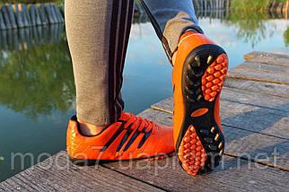 Мужские футзалки - сороконожки оранжевые 40-46р, фото 3