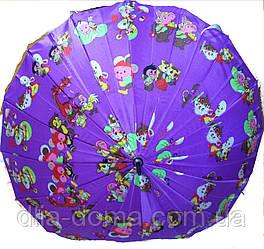 Зонты женские трость Сиреневый