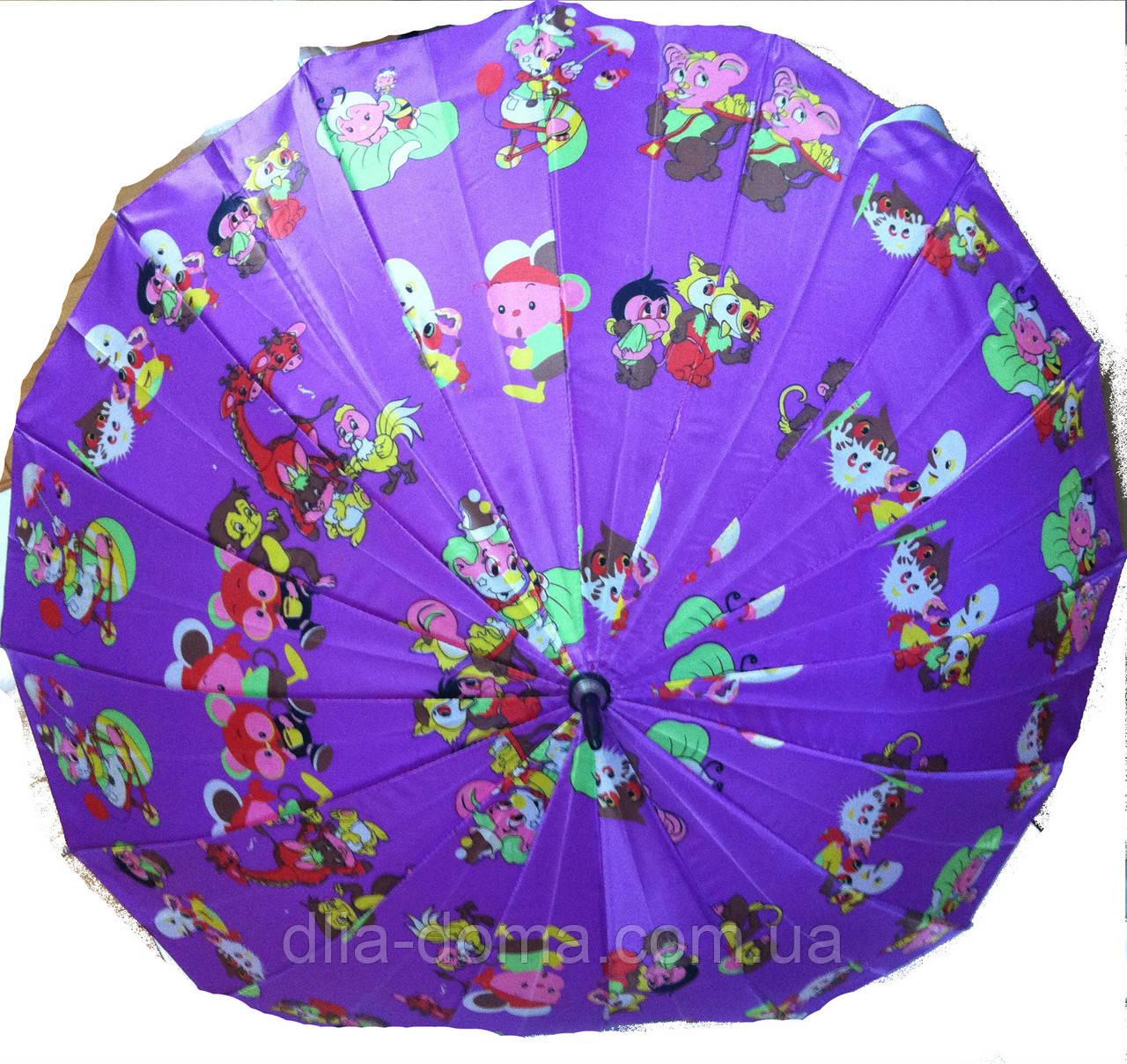 Зонт  трость женский Сиреневый