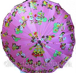 Зонты женские трость Розовый