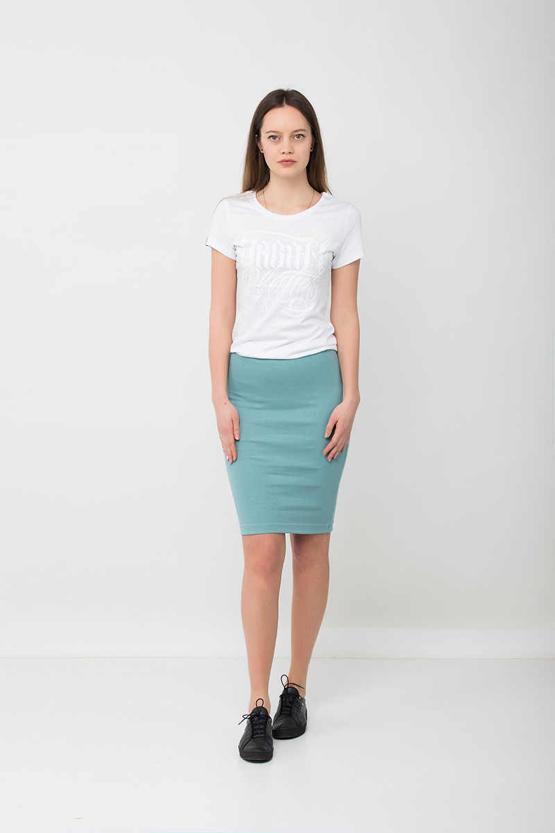 Модная юбка карандаш голубая SKY Urban Planet (юбочка, юбки, жіноча юб