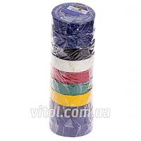 Изоляционная лента PVC STENSON (MH-0033), длина 50 м, ассорти, ПВХ, изолента, липкая лента, изоляционный материал, электроизоляционная лента