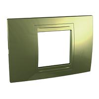 Рамка 2-местная Золотистый Unica Schneider, MGU4.102.64