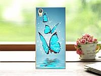 Чехол силиконовый для Sony Xperia XA1 G3112 с рисунком три бабочки