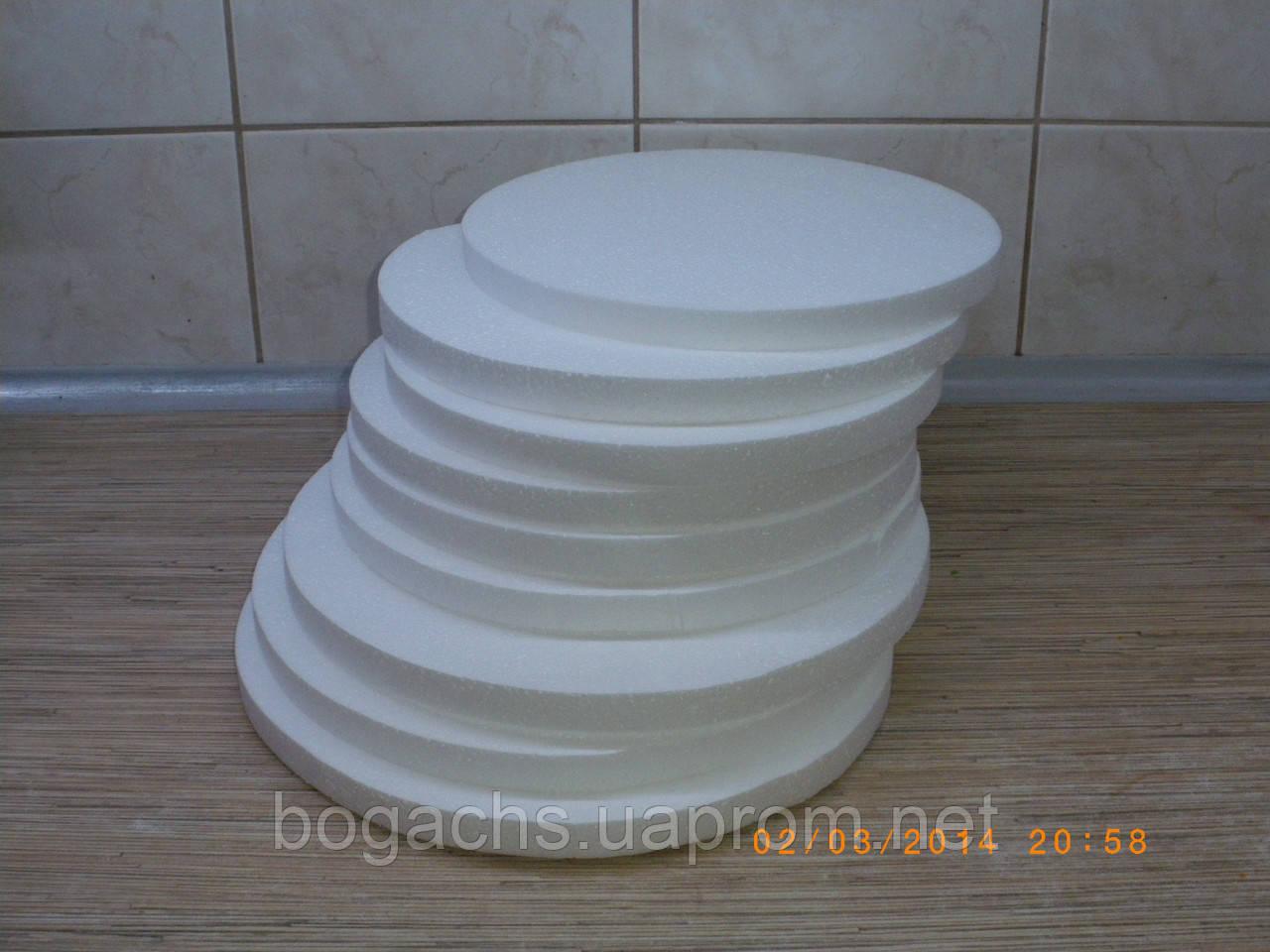 Подложка Ø 44 см 4402 (подставка, основа) из пенопласта под торт