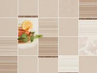 Обои на кухню цвет (Бежевый) виниловые, B49.4 Чай C948-01, супер-мойка, 0,53*10м