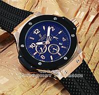Мужские наручные часы Hublot Big Bang Gold Black реплика механика с автоподзаводом качество