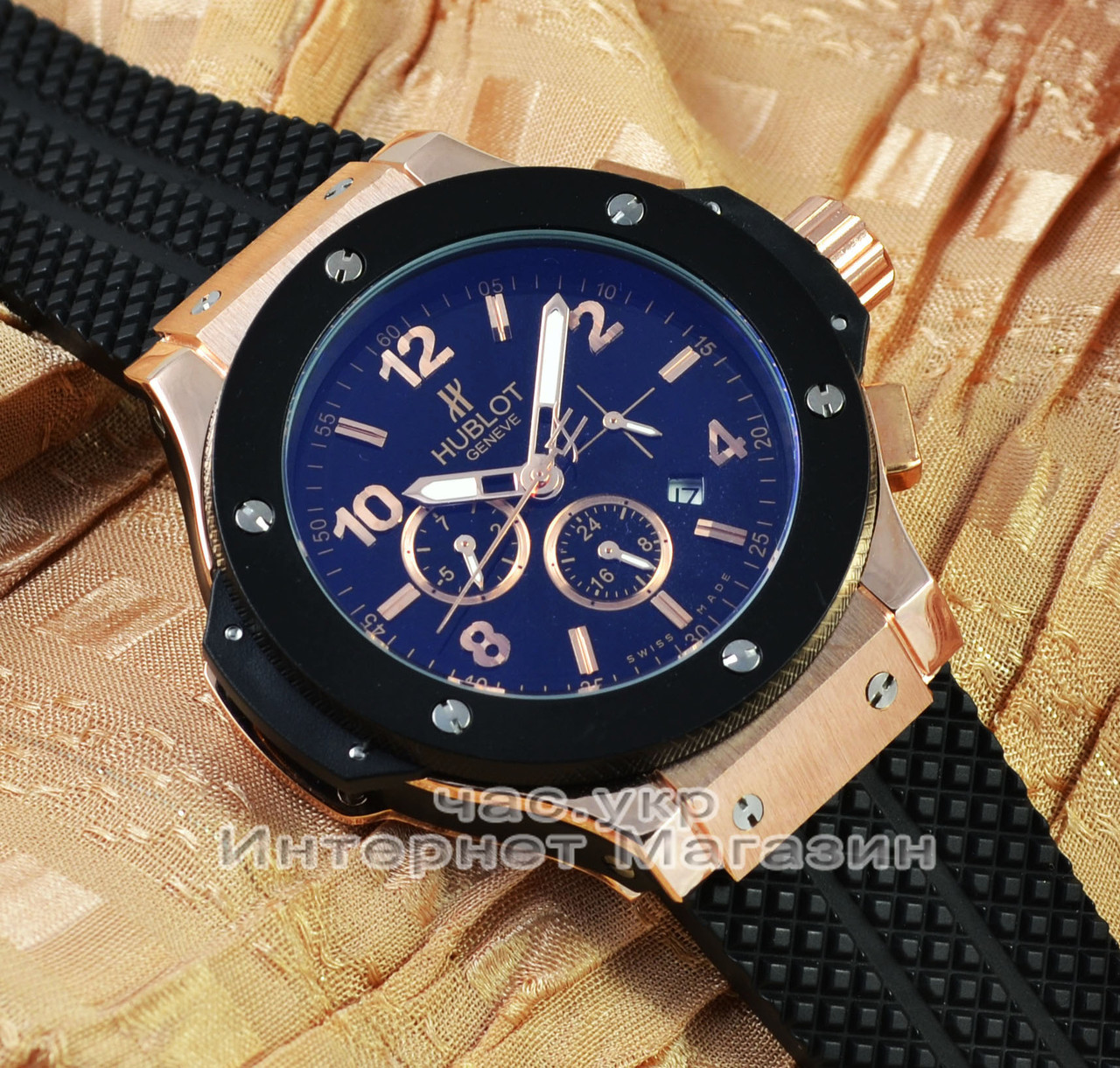 4362fe2adefa Мужские наручные часы Hublot Big Bang Gold Black реплика механика с  автоподзаводом качество - Ваш интернет