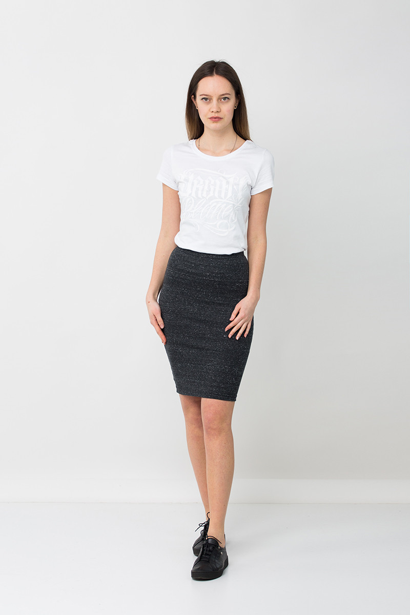 Модная юбка карандаш серая GN Urban Planet (юбочка, юбки, жіноча юбка,