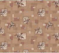 Ковролин для дома Лилия коричневый на войлочной основе цветной, фото 1