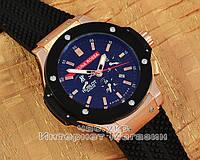 Мужские наручные часы Hublot Big Bang Luna Rossa Gold Black реплика механика с автоподзаводом качество