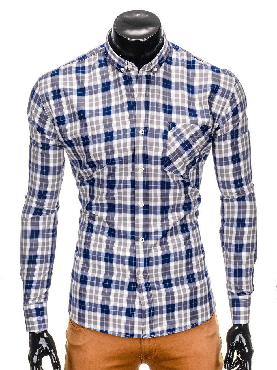 9df6f0fd7bfe Рубашка мужская R393 - голубой/Серый M, Серый, цена 505 грн., купить ...