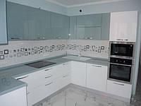 акриловая угловая кухня фото 4