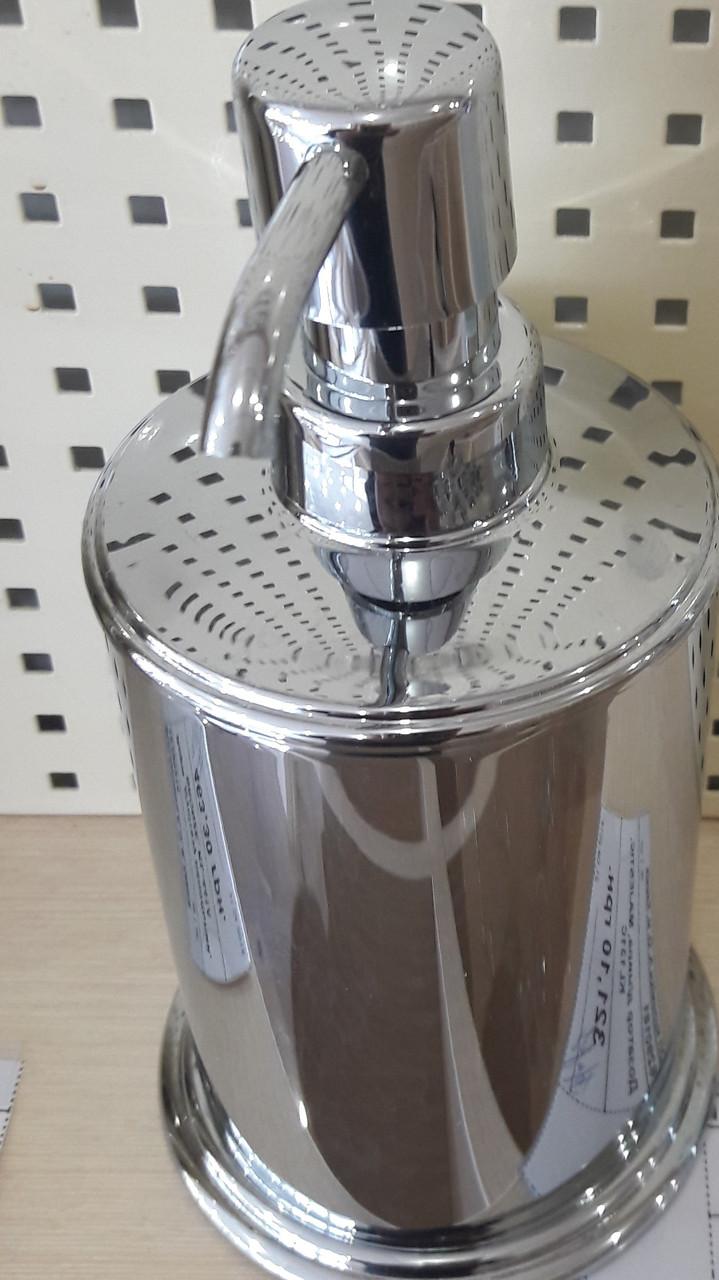 Дозатор диспенсер метал для жидкого мыла настольный 0525