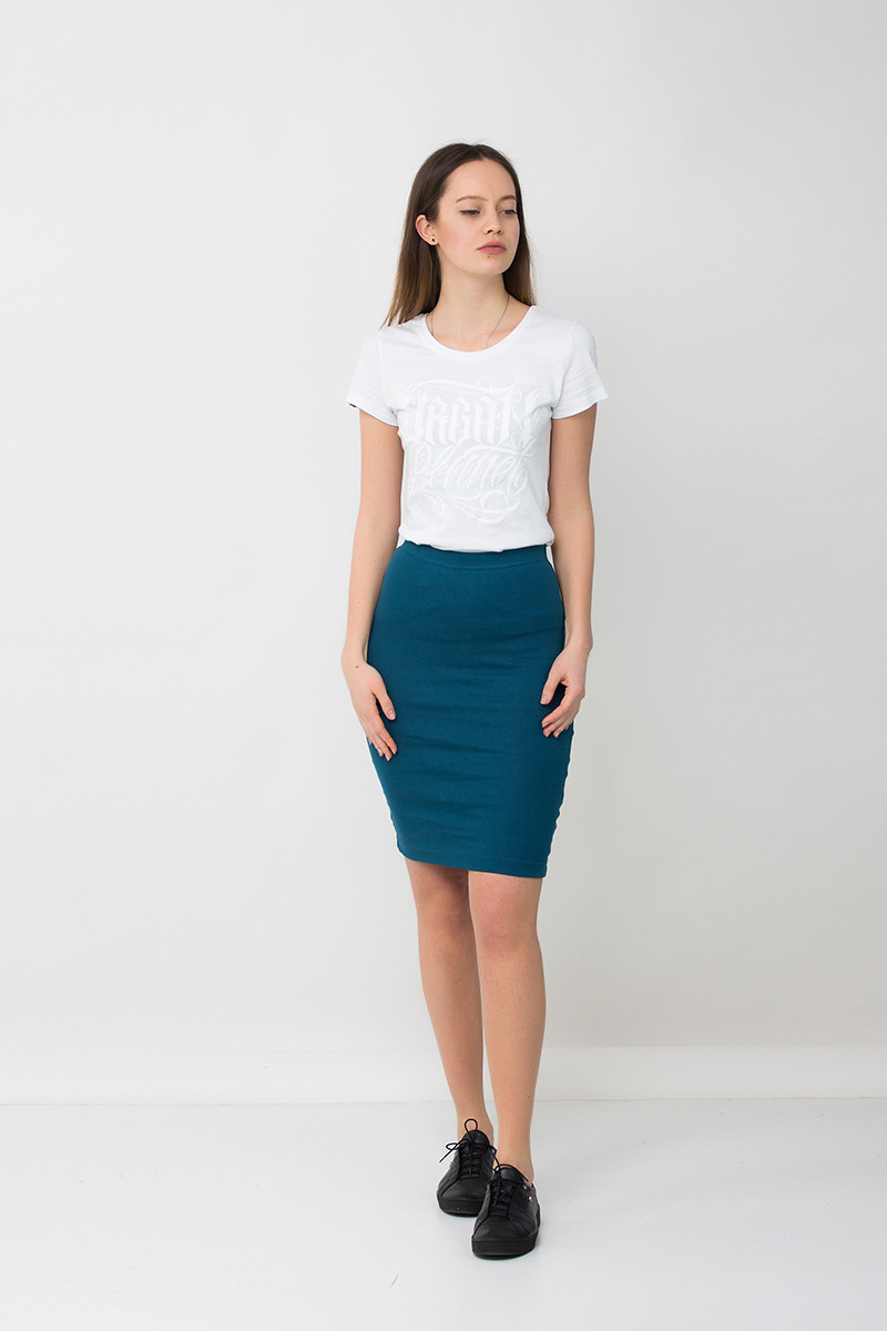 Модная юбка карандаш синяя DEEP Urban Planet (юбочка, юбки, жіноча юбк