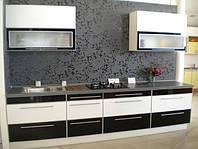 черно-белая акриловая кухня фото 6