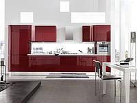 кухня из акрила бордовая фото 7
