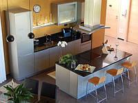 акриловая кухня с островом фото 8