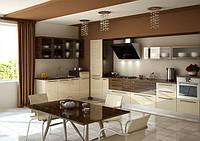 акриловая кухня бежевая фото 10