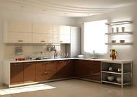 кухня коричневый акрил фото 11