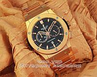 Мужские наручные часы Hublot Classic Fusion Chronograph King Gold Bracelet Gold реплика хронограф кварцевые