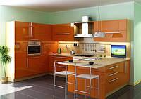 кухни акрил оранжевый фото 15