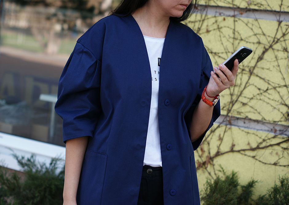 Жакет женский  Nklook cotton jacket синий