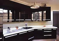 кухня черная акриловая фото 16