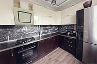 кухня с верхними акриловыми фасадами фото 18