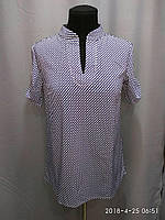 Блуза женская ANNA с коротким рукавом. 42,44,46рр Софт. Норма. 027 Принт