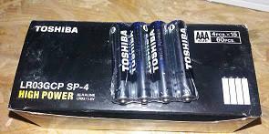 Батарейки Toshiba LR3/4/40