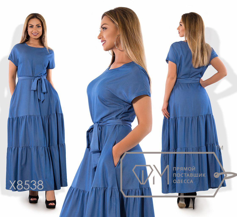 b9f00964a33 Купить Длинное летнее джинсовое платье большого размера fmх8538 ...