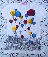 """Футболка  девочке """"Воздушные шары"""", р. 3 года, фото 1"""