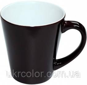Кружка хамелеон latte черная для сублимации ( объем 350 мл )