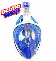 Полнолицевая маска Scuba Ocean Reef для снорклинга, цвет синий