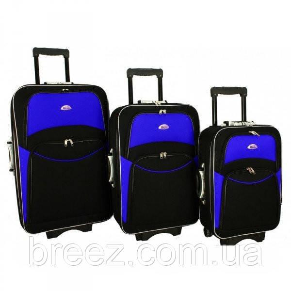 Чемодан сумка 773 большой черно-синий 1 шт.