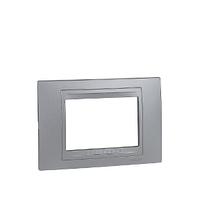 Рамка 3-мод. Алюминий Unica Schneider, MGU4.103.30