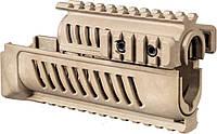 Цевье FAB Defense полимерное для АК47/74, 4 планки, песочного цвета