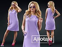 Яркое льняное платье со скрытыми карманчиками.  Цвет - коралл,розовый,ментол,желтый,фиалка.
