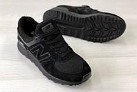Кроссовки мужские New Balance 574 код товара 4S-1077. Черные