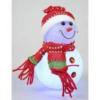 Снеговик LED светящийся, 10 см, фото 1