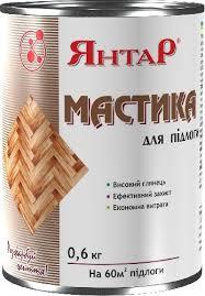 Мастика для пола 0.6кг БЕСЦВЕТНАЯ ТМ Янтарь