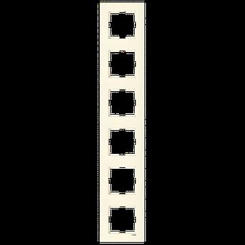 Шестерная вертикальная рамка VIKO Karre Крем, фото 2