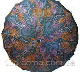 Зонты женские трость двойная ткань Звезда