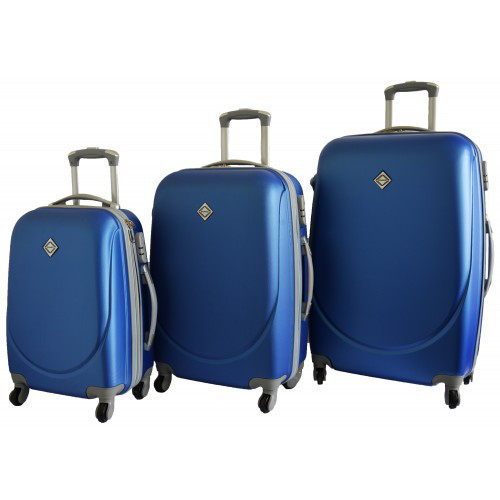 Набор чемоданов на колесах Bonro Smile Синий 3 штуки