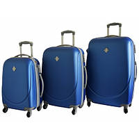 Набор чемоданов на колесах Bonro Smile Синий 3 штуки, фото 1