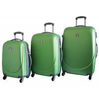 Набор чемоданов на колесах Bonro Smile Салатовый 3 штуки